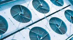 Picture of fans, probably from an industrial refrigeration or air conditioning system