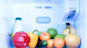 Inside a domestic refrigerator